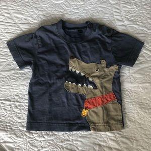 mini Boden 18-24 mos Dog Appliqué Tee Shirt